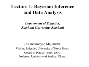 Bayesian Inference and Data Analysis