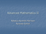 Advanced Mathematics II