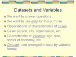 Datasets and Variables - University of California, Riverside