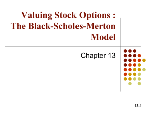 Valuing Stock Options: The Black