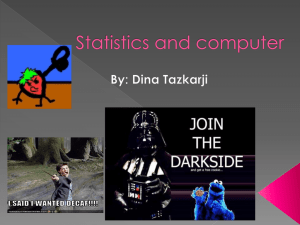 Statistics and computer