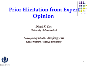 Prior Elicitation from Expert Opinion