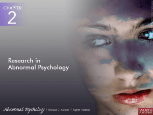 Comer, Abnormal Psychology, 8th edition