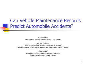 Can Vehicle Maintenance Records Predict Automobile Accidents?