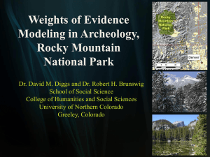 Weights of Evidence Modeling in Archeology, Rocky Mountain