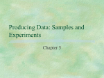 Topic 01 - Producing Data 2013 part 2