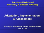 Activity and Web-based Probability & Statistics