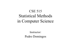 CSE 590ST Statistical Methods in Computer Science