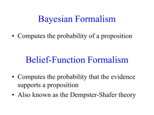 Belief-Function Formalism