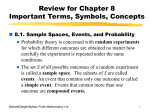 Review for Chapter 8 Important Words, Symbols, and Concepts