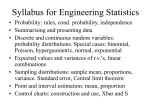 Syllabus for Engg. Statistics