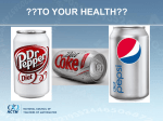 Soft Drinks and Heart Disease