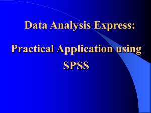 SPSS 101 - University of San Diego Home Pages