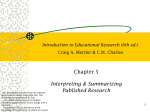 Introduction to Educational Research (4th ed.) C.M. Charles/Craig A
