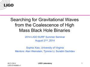Sophia_Xiao_Searching for Gravitational Waves from - DCC