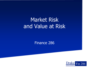 Value at Risk - Drake University