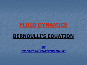 derived along a fluid flow streamline is often called the