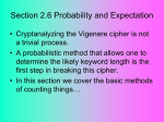 Section 2.6 Probability and Expectation