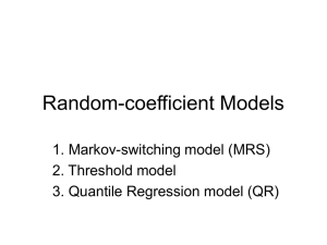 Random-coefficient Models