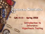 Introduction to Inference (Hypothesis Testing)