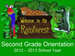 Second Grade Orientation 2007 – 2008 School Year