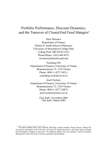 Portfolio Performance, Discount Dynamics, and the Turnover of Closed-End Fund Mangers