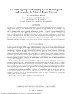Extended Hyperspectral Imaging System Modeling and Implementation for Subpixel Target Detection