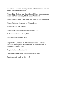 This PDF is a selection from a published volume from... Bureau of Economic Research