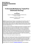"""A Diversity/Multiplexing Tradeoff for "" Distributed Sensing ELECTRICAL &"