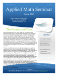 Applied Math Seminar The Geometry of Data  Spring 2015