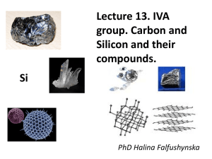13.IVA group. Carbon and Silicon and their compounds.