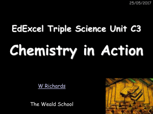 Unit C3 - Chemistry In Action