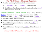Ch. 7 & 8 Notes (Chemical Reactions) teacher