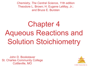 Chapter 4 - AP Chemistry with dr hart