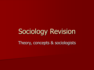 Sociology Revision - The Friary School