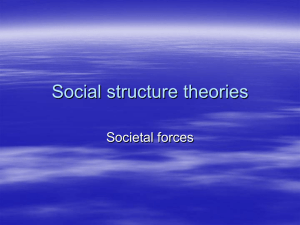 Social structure theories - Southeast Missouri State