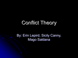 Iowa State University: Conflict Theory