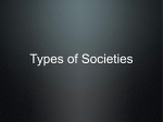 Types of Societies