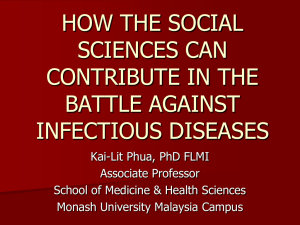 HOW THE SOCIAL SCIENCES CAN CONTRIBUTE IN THE BATTLE