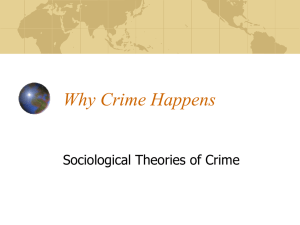 Why Crime Happens: Sociology