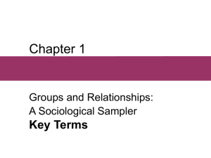 Chapter 1, Groups and Relationships: A Sociological Sampler