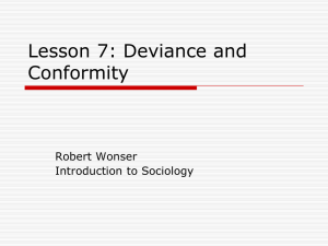 Lesson 7: Deviance and Conformity