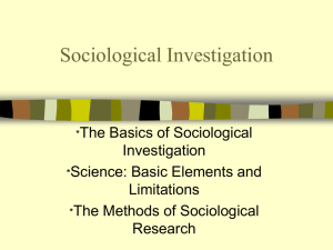 Sociological Investigation