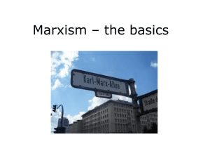 Marxism – the basics