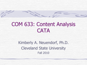CATA: Computer Aided Text Analysis