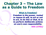 Chapter 3 – The Law as a Guide to Freedom