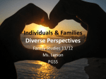Individuals & Families Diverse Perspectives