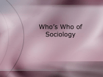 Who`s Who of Sociology
