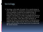 1. Sociology, circle of its questions and destination