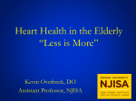 Cardiovascular Disease Management in the Geriatric Patient